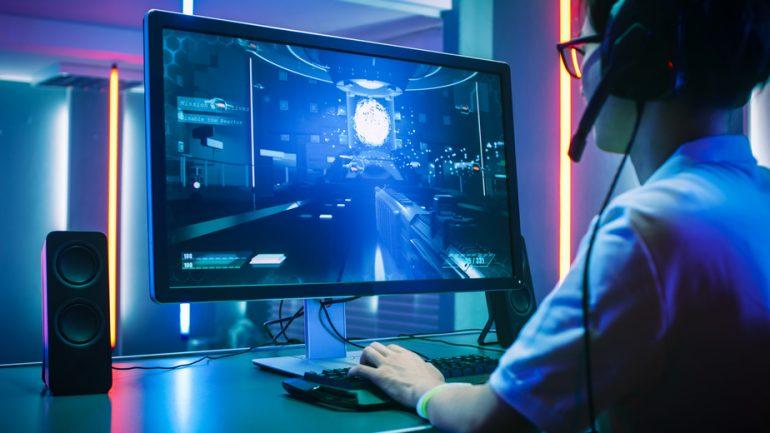 Gamer with Headphones